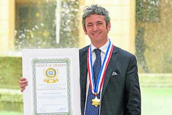 El almeriense Juan Miguel Moreno, Medalla al Mérito de la Cámara de Comercio Latina